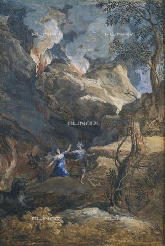 AIS-F-110162-0000 - DUGHET, Gaspard (1615-1675). Orpheus and Eurydice. 1648. Baroque art. Oil on canvas. ITALY. Rome. Galleria Nazionale d'Arte Antica (National Gallery of Ancient Art). - Iberfoto/Alinari Archives, BeBa