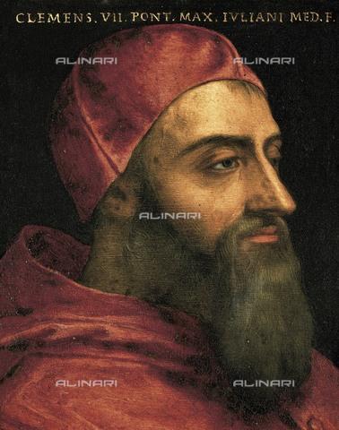 AIS-F-110167-0000 - BRONZINO, Agnolo di Cosimo di Mariano, also called Il (1502-1572). Pope Clement VII. 16th c. Mannerism art. Oil on canvas. ITALY. Florence. Galleria degli Uffizi (Uffizi Gallery). - Iberfoto/Alinari Archives, BeBa