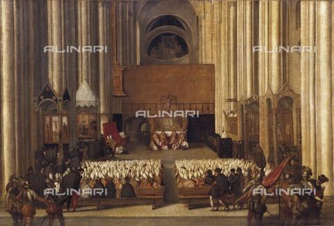 AIS-F-110247-0000 - Council of Trent, 4th December 1563. ca. 1563. Anonymous work from the Venecian School. Renaissance art. Cinquecento. Oil on canvas. FRANCE. Paris. Louvre Museum. - Iberfoto/Alinari Archives, BeBa