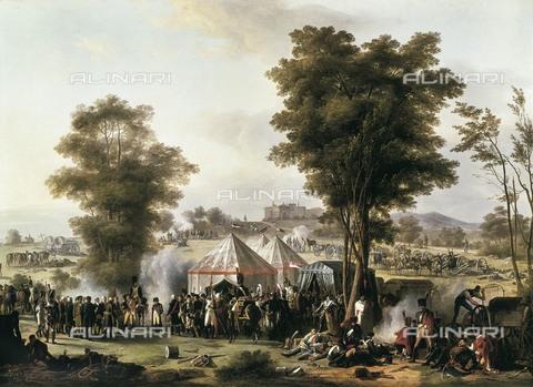 AIS-F-111327-0000 - MONGIN, Antoine Pierre (1761-1827). Bivouac of Napoleon near Chateau d'Ebersberg (4th May 1809). Oil on canvas. FRANCE. Versailles. National Museum of Versailles. - Iberfoto/Alinari Archives, BeBa