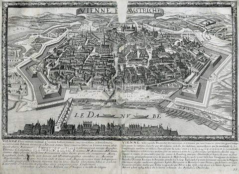 AIS-F-118834-0000 - Map of Vienna (17th c.) by the family Jollain. Engraving. - Iberfoto/Alinari Archives, J. Bedmar