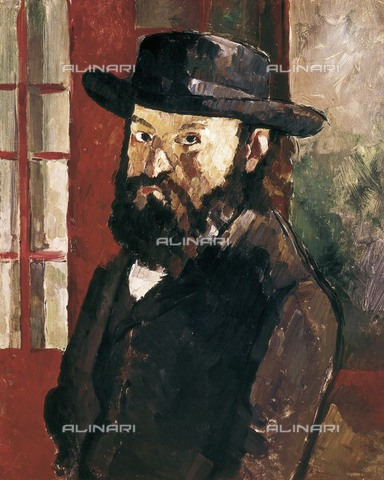 AIS-F-121310-0000 - Self-Portrait with Hat, oil on canvas, Paul Cézanne (1839-1906), Kunstmuseum, Bern - Iberfoto/Alinari Archives, BeBa