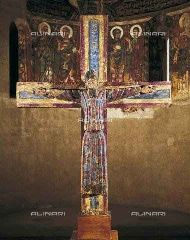 AIS-F-ACC024-0000 - Majestat Batlló, wooden crucifix, Romanesque art, Museu Nacional d'Art de Catalunya, Barcelona - Iberfoto/Alinari Archives