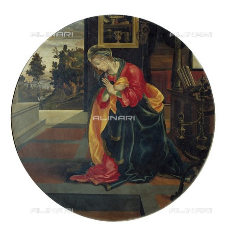 AIS-F-DEF353-0000 - Madonna of the Annunciation, tempera on wood, Filippino Lippi (c. 1457-1504), Musei Civici, Pinacoteca, San Gimignano - Iberfoto/Alinari Archives