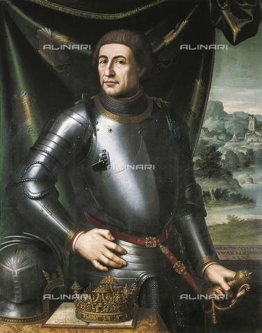 AIS-F-EKW530-0000 - Ritratto di Alfonso d'Aragona detto il Buono (1396-1458), olio su tavola, Juan de Juanes (1507-1579), Diputacià³n General de Aragà³n, Saragozza - Iberfoto/Archivi Alinari