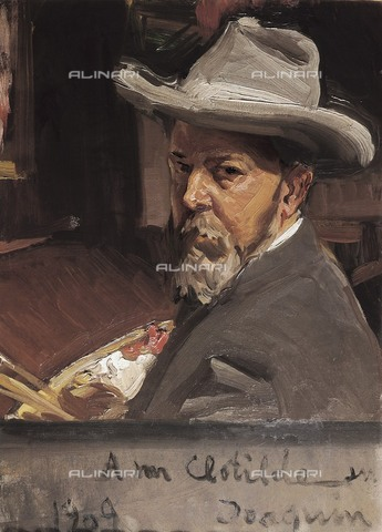AIS-F-FPH082-0000 - Self-portrait, oil on canvas, Joaquin Sorolla y Bastida (1863-1923), Sorolla Museum, Madrid - M.C.Esteban / Iberfoto/Alinari Archives