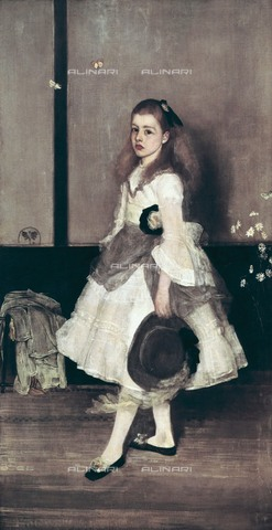 AIS-F-GXM089-0000 - Miss Cicely Alexander: harmony in gray and green, oil on canvas, James Abbott McNeill Whistler (1834-1903), Tate Gallery, London - Iberfoto/Alinari Archives