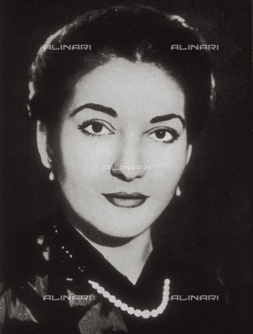 AIS-F-JRE072-0000 - Portrait of the soprano Maria Callas (1923-1977) - Iberfoto/Alinari Archives