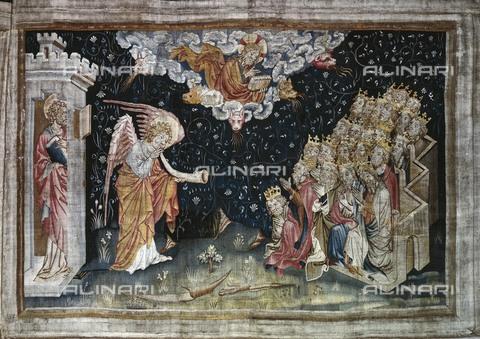 AIS-F-LFN821-0000 - La settima tromba: annuncio della vittoria, 1375-1382, arazzo numero 34 dell'Apocalisse di Angers, Nicolas Bataille (1330 ca.–1399 ca.), Castello di Angers - Iberfoto/Archivi Alinari
