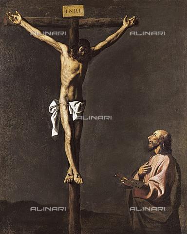 AIS-F-RCB091-0000 - Cristo sulla croce e san Luca pittore, olio su tela, Francisco de Zurbaran (1598-1664), Museo del Prado, Madrid - M.C.Esteban / Iberfoto/Archivi Alinari