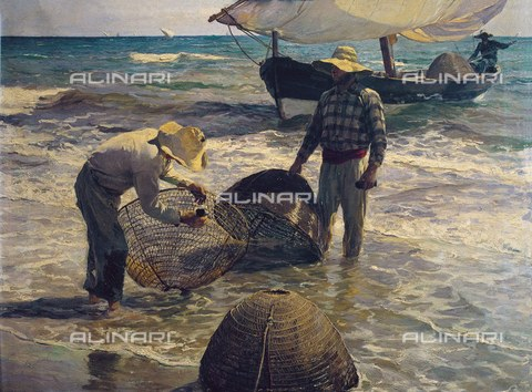AIS-F-VBB017-0000 - Valencian fishermen, oil on canvas, Joaquin Sorolla and Bastida (1863-1923), Private Collection - Iberfoto/Alinari Archives