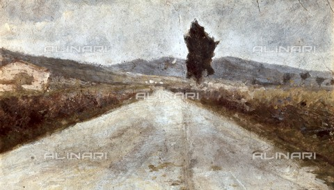 AIS-F-VST077-0000 - Road in the Tuscan countryside, oil on cardboard, Amedeo Modigliani (1884-1920), Giovanni Fattori Civic Museum, Livorno - Iberfoto/Alinari Archives