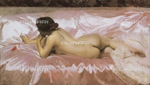 AIS-F-XAG857-0000 - Nude of a woman, oil on canvas, Joaquin Sorolla y Bastida (1863-1923), Private Collection - Iberfoto/Alinari Archives