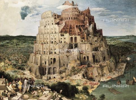 "AIS-S-000202-4711 - Breugel, Pieter, The Elder, called ""Peasant Bruegel"" (1525-1569). The Tower of Babel. 1563. Detail. Flemish art. Oil on wood. AUSTRIA. Vienna. Kunsthistorisches Museum Vienna (Museum of Art History). - Iberfoto/Alinari Archives, BeBa"