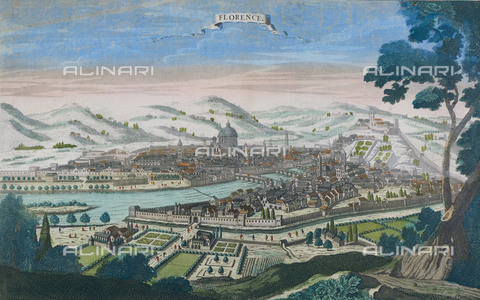AIS-S-00IB65-6319 - View of Florence, press, Grabado de Antoine Aveline (1691-1743) - Iberfoto/Alinari Archives