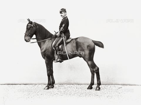 APA-S-000894-0002 - Portrait of a soldier on horseback