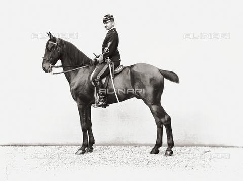 APA-S-000894-0002 - Portrait of a soldier on horseback