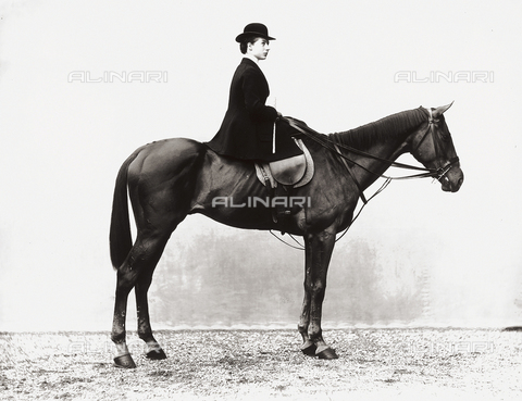 APA-S-005959-0001 - Portrait of Miss Hamilton on horseback