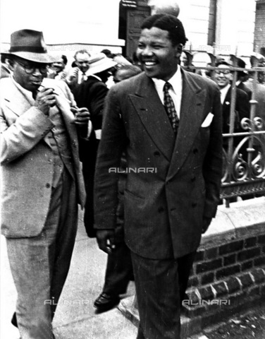 APN-F-036948-0000 - SAED: PERSONALITY: POLITICS:  - Nelson Mandela and Nelson Mandela (Photograph by Drum Photographer  Baileys Archives) - Baileys African History Archive / Africamediaonline/Alinari Archives, Florence