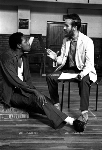 APN-F-146174-0000 - SAFRICA: THEATRE: MUSIC: Drum February 1963. 'Sponono' a musical written by Alan Paton, music by Gideon Nxumalo and directing by Athol Fugard.  (photo unknown) - Africamediaonline/Archivi Alinari, Firenze, Baileys African History Archive