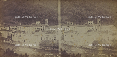ARC-F-005437-0000 - View of Bagni di Lucca - Date of photography: 1860 ca. - Fratelli Alinari Museum Collections-Aranguren Collection, Florence