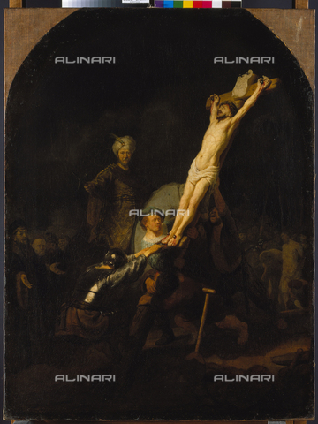 ATK-F-000021-0000 - Crucifixion, Oil on Canvas, Rembrandt Van Rijn (1606-1669), Alte Pinakothek, Munich - Blauel Gnamm / Artothek/Alinari Archives