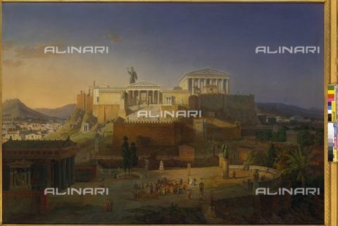 ATK-F-000087-0000 - The Acropolis of Athens, oil on canvas, Leo von Klenze (1784-1864), Neue Pinakothek, Munich - Blauel Gnamm / Artothek/Alinari Archives