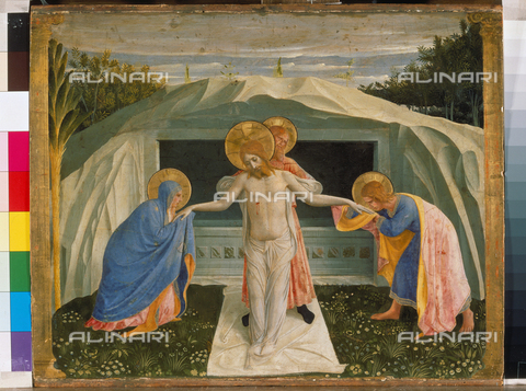 ATK-F-000524-0000 - Pietà or Deposition, tempera on panel, Guido di Pietro known as Beato Angelico or Fra 'Angelico (1395-1455), Alte Pinakothek, Monaco - Blauel Gnamm / Artothek/Alinari Archives