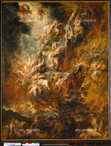ATK-F-001209-0000 - The hell of the damned (or fall of the damned), oil on canvas, Peter Paul Rubens (1577-1640), Alte Pinakothek, Munich - Blauel Gnamm / Artothek/Alinari Archives