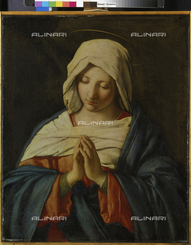 ATK-F-005580-0000 - Madonna in prayer, oil on canvas, Giovan Battista Salvi known as Sassoferrato (1609-1685), Alte Pinakothek, Monaco - Blauel Gnamm / Artothek/Alinari Archives