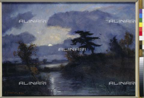 ATK-F-007465-0000 - Moon at Teufelsmoor, painting, Otto Modersohn (1865-1943), Sammlung B.Kaufmann, Stade - Artothek/Alinari Archives