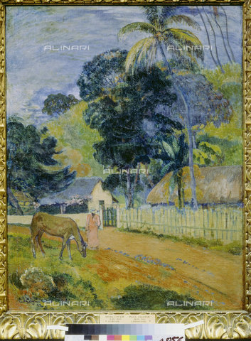 ATK-F-008240-0000 - Paesaggio a Tahiti, 1899, Paul Gauguin  (1848-1903) - Artothek/Archivi Alinari