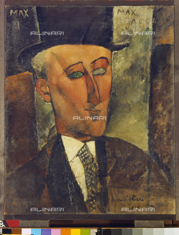 ATK-F-008773-0000 - Portrait of Max Jacob, oil on canvas, Amedeo Modigliani (1884-1920), Kunstsammlung Nordrhein -Westfalen, Düsseldorf - Artothek/Alinari Archives