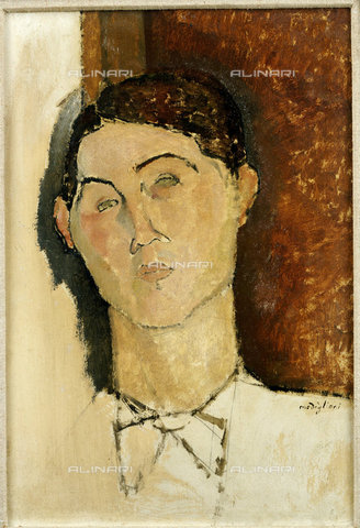 ATK-F-009899-0000 - Head of a young man, oil on canvas, Amedeo Modigliani (1884-1920) - Christie's Images Ltd / Artothek/Alinari Archives