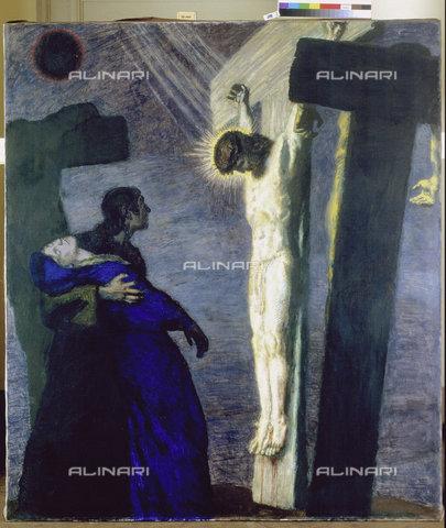 ATK-F-010329-0000 - The Crucifixion, Tempera on Canvas, Franz von Stuck (1863-1928), Museum der Bildenden Kunste, Leipzig - Christoph Sandig / Artothek/Alinari Archives