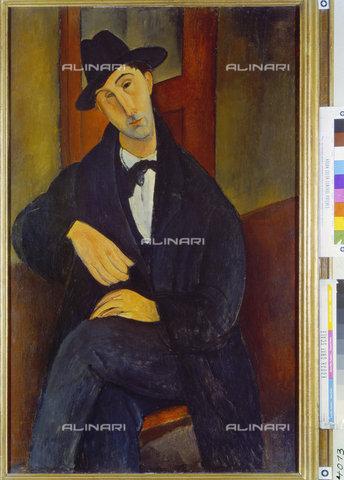 ATK-F-010934-0000 - Portrait of Mario Varvogli, oil on canvas, Amedeo Modigliani (1884-1920), Private Collection, Zurich - Artothek/Alinari Archives, Hans Hinz