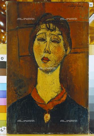 ATK-F-010935-0000 - Portrait of Madame Blanche Dorivale, oil on canvas, Amedeo Modigliani (1884-1920), Sammlg. Im Obersteg, Oberhofen - Artothek/Alinari Archives, Hans Hinz