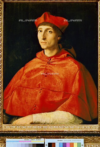 ATK-F-011146-0000 - Ritratto di cardinale, olio su tela, Raffaello Sanzio (1483-1520), Museo del Prado, Madrid - Hans Hinz / Artothek/Archivi Alinari