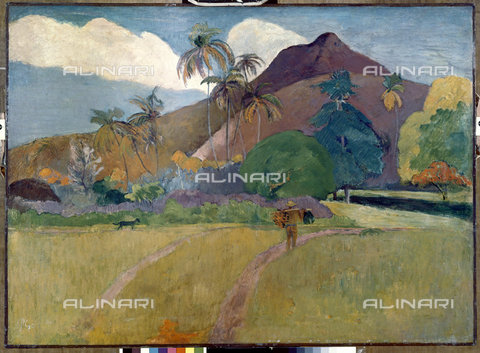 ATK-F-011212-0000 - Paesaggio tahitiano con montagne, 1893, Paul Gauguin  (1848-1903) - Artothek/Archivi Alinari, © Hans Hinz - ARTOTHEK