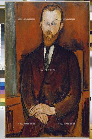 ATK-F-011239-0000 - Portrait of Herrn Wielhorski, oil on canvas, Amedeo Modigliani (1884-1920), Fondation Beyeler, Basel - Artothek/Alinari Archives, Hans Hinz