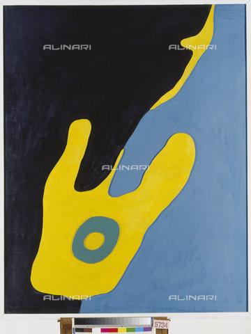ATK-F-011300-0000 - Configuration (Configurazione), olio su tavola, Hans Arp (1887-1966), Kunstmuseum, Basilea - Artothek/Archivi Alinari, Hans Hinz