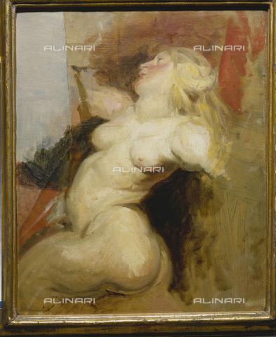ATK-F-011395-0000 - Donna nuda, olio su tela, Eugene Delacroix (1798-1863), Kunstmuseum, Basilea, Svizzera - Hans Hinz / Artothek/Archivi Alinari