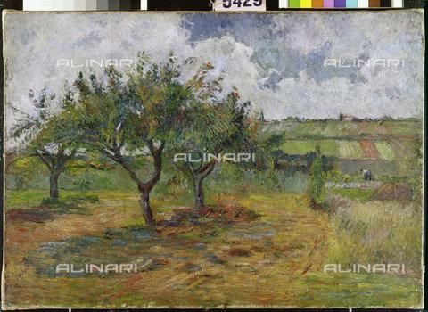 ATK-F-011423-0000 - Campi ed alberi, 1879, Paul Gauguin (1848-1903) - © Hans Hinz - ARTOTHEK / Artothek/Archivi Alinari
