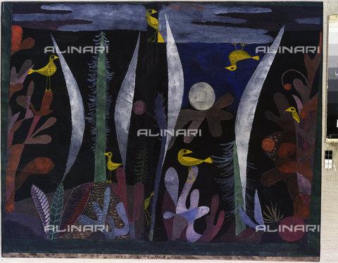ATK-F-011835-0000 - Paesaggio con uccelli gialli, olio su tela, Klee, Paul (1879-1940), Collezione Privata - Artothek/Archivi Alinari, Hans Hinz