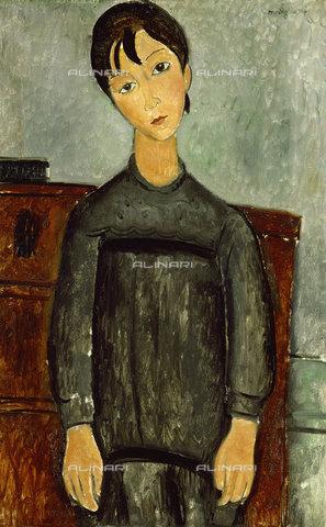 ATK-F-011991-0000 - Young with black apron, oil on canvas, Amedeo Modigliani (1884-1920), Kunstmuseum, Basel - Artothek/Alinari Archives, Hans Hinz