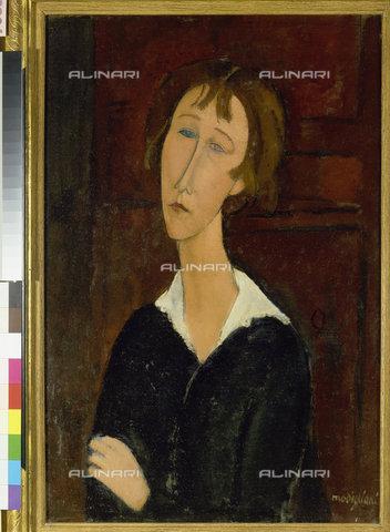 ATK-F-011992-0000 - Portrait of a Woman with a White Collar, oil on canvas, Amedeo Modigliani (1884-1920), Heymann Collection, Binningen - Artothek/Alinari Archives, Hans Hinz