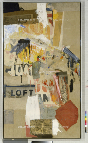ATK-F-012042-0000 - Double Feature, 1959, oli and collage on canvas, Rauschenberg, Robert (1925-2008) (1925-2008), Basel, Kunstmuseum - Artothek/Alinari Archives, Hans Hinz