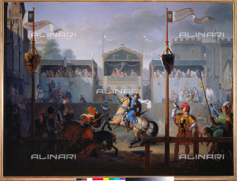ATK-F-013533-0000 - The 14th-century Joust, painting, Pierre Henri Révoil (1776-1842), Musée des Beaux-Arts, Lyon - Peter Willi / Artothek/Alinari Archives