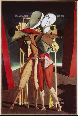 ATK-F-013846-0000 - Ettore e Andromaca, olio su tela, Giorgio De Chirico (1888-1978), Collezione Privata, Milano - Artothek/Archivi Alinari, Peter Willi