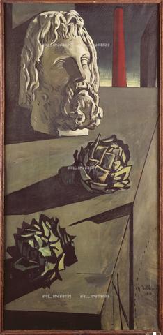 ATK-F-013848-0000 - Passeggiata del filosofo, olio su tela, Giorgio De Chirico (1888-1978), collezione privata - Artothek/Archivi Alinari, Peter Willi